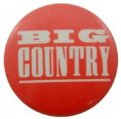 Big Country - 'Logo Red' Button Badge